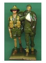 Wounded Private and Mate, New Guinea (2 figure set)